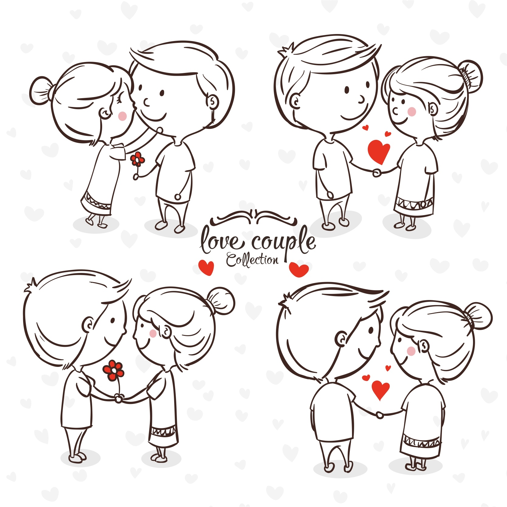 Valentine Day 14th February Laser Engraving Ideas Free Vector