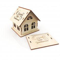 Laser Cut Small House Template Free Vector