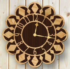 Laser Cut Wall Clock Free Vector