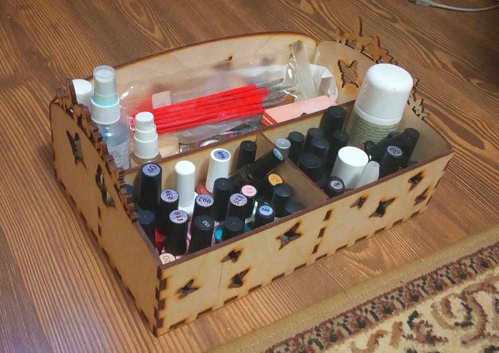 Laser Cut Butterfly Organizer Box Free Vector