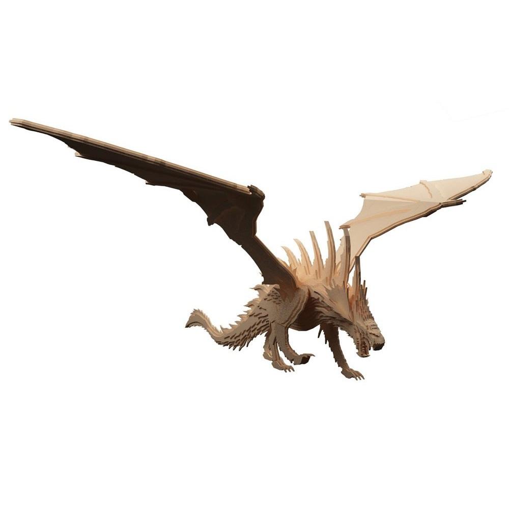 Laser Cut European Dragon Wooden Welsh Dragon DXF File