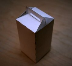 Laser Cut Gable Packaging Box Cardboard Box Template Free Vector