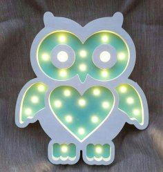 Laser Cut Owl Lamp Unique Kids Night Light Free Vector