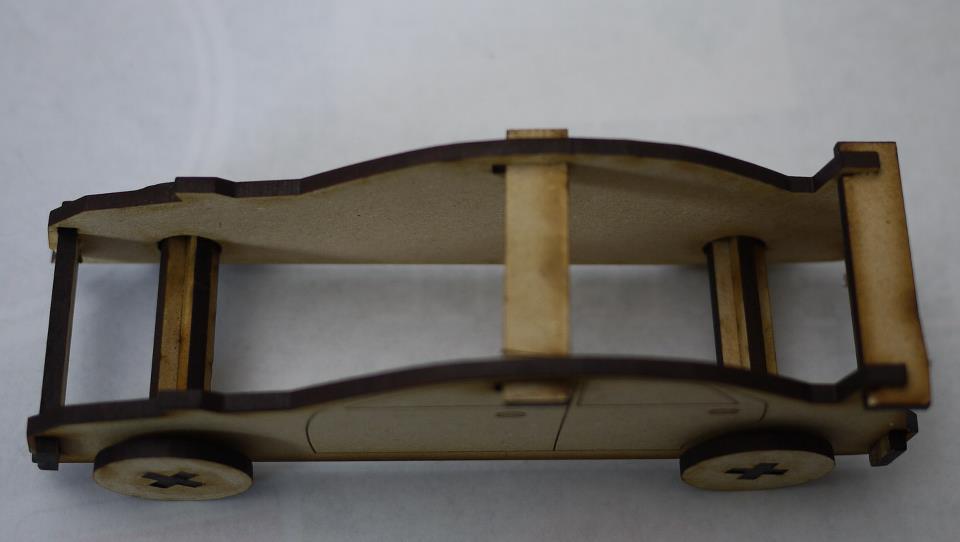 Laser Cut Sports Car 3mm SVG File
