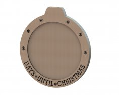 Advent Calendar Christmas Countdown DXF File
