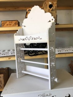 Laser Cut Paper Rack Paper Shelf Storage DXF File