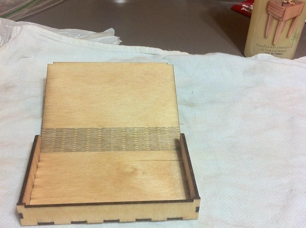Laser Cut Flex Box Snap Fit 3mm Plywood SVG File