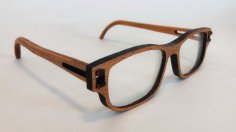 Laser Cut Wooden Glasses DXF File