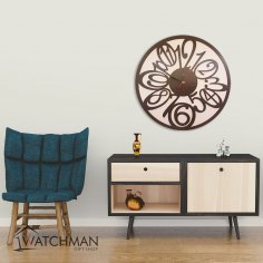 Laser Cut Clock Plywood DXF File
