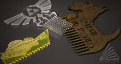 Laser Cut Surf Comb SVG File