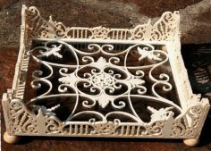 Wooden Decorative Frame Tray Stand Laser Cutting Template Free Vector