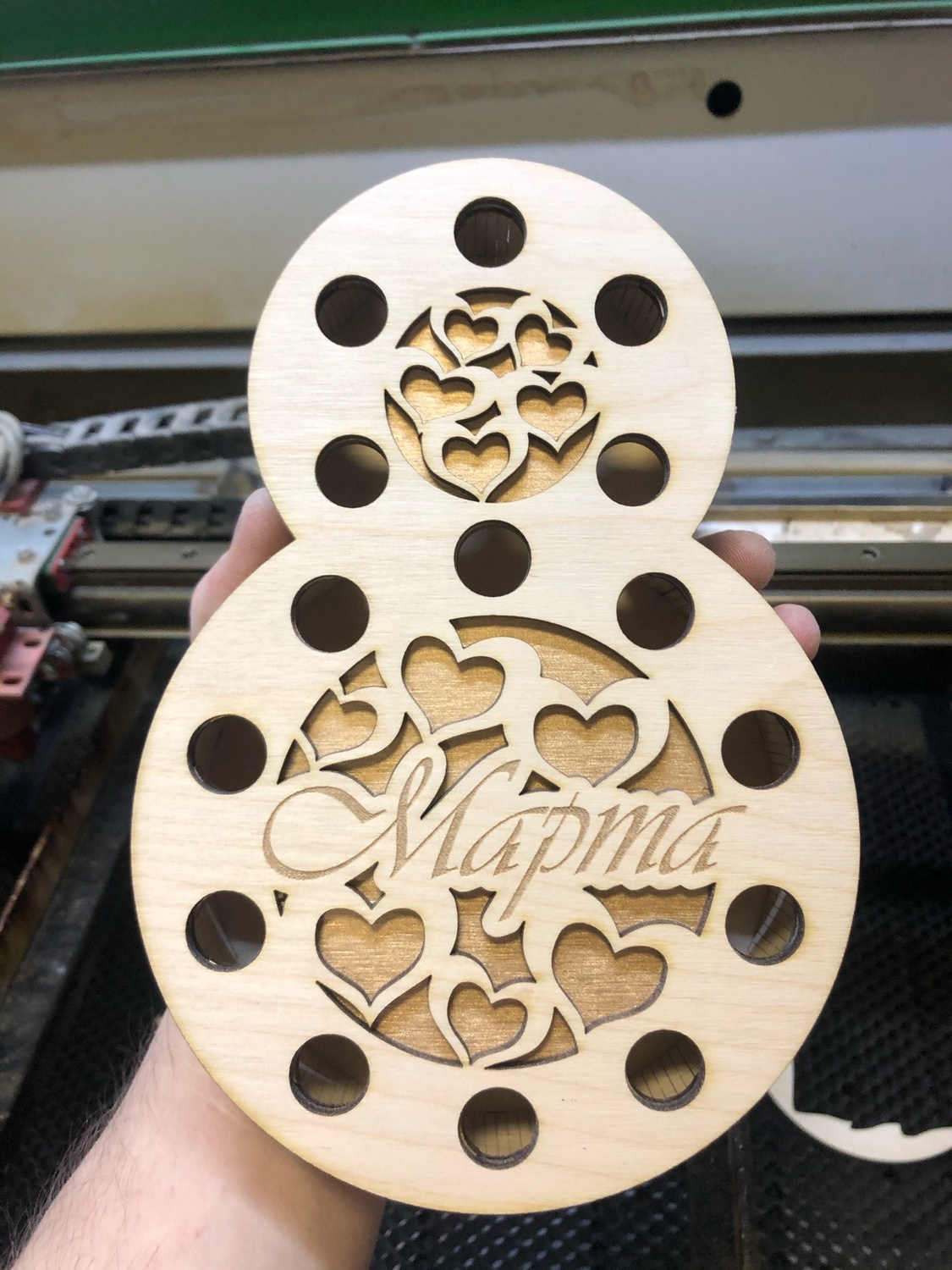 Laser Cut Womens Day 8 March Flower Box Free Vector