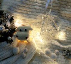 Laser Cut 3D Wood Christmas Tree Snowflake Ball Ornament 3mm Free Vector