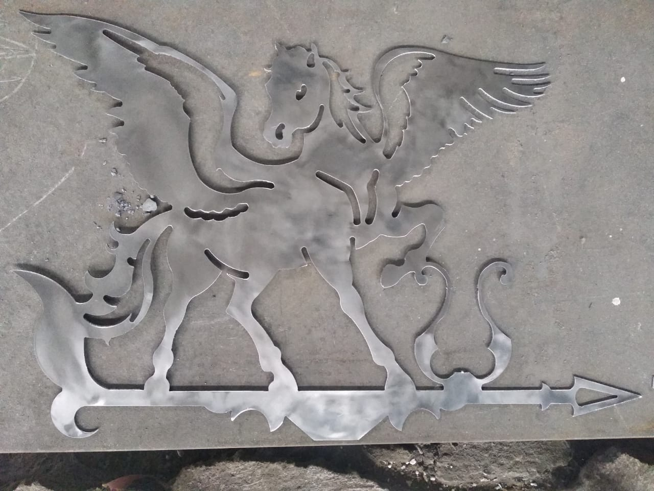 Laser Cut Pegasus Weathervane Plasma Art DXF File