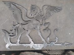 Laser Cut Pegasus Weathervane Plasma Art DXF File