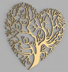 Laser Cut Heart Tree Wall Decor Free Vector