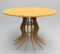 Laser Cutting Rustic Outdoor Table Free Vector