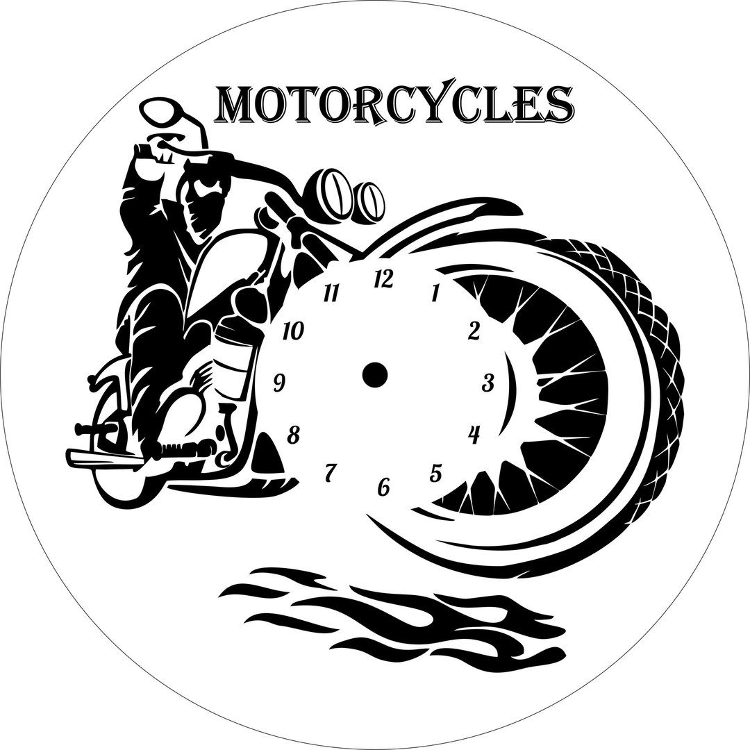Motorcycle Clock DXF File