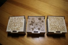 Laser Cut Decorative Boxes Ai File
