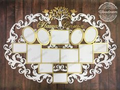 Photo Frame Laser Cut Free Vector