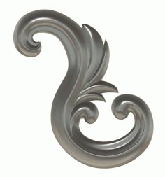 Ornamental Flourish CNC Wood Carving Design stl File