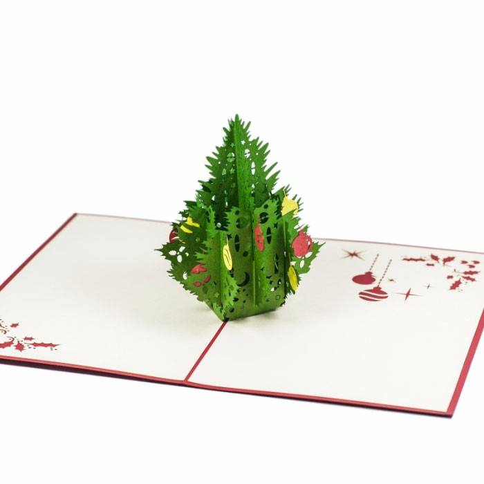 Laser Cut Decorative Christmas Tree Free Vector