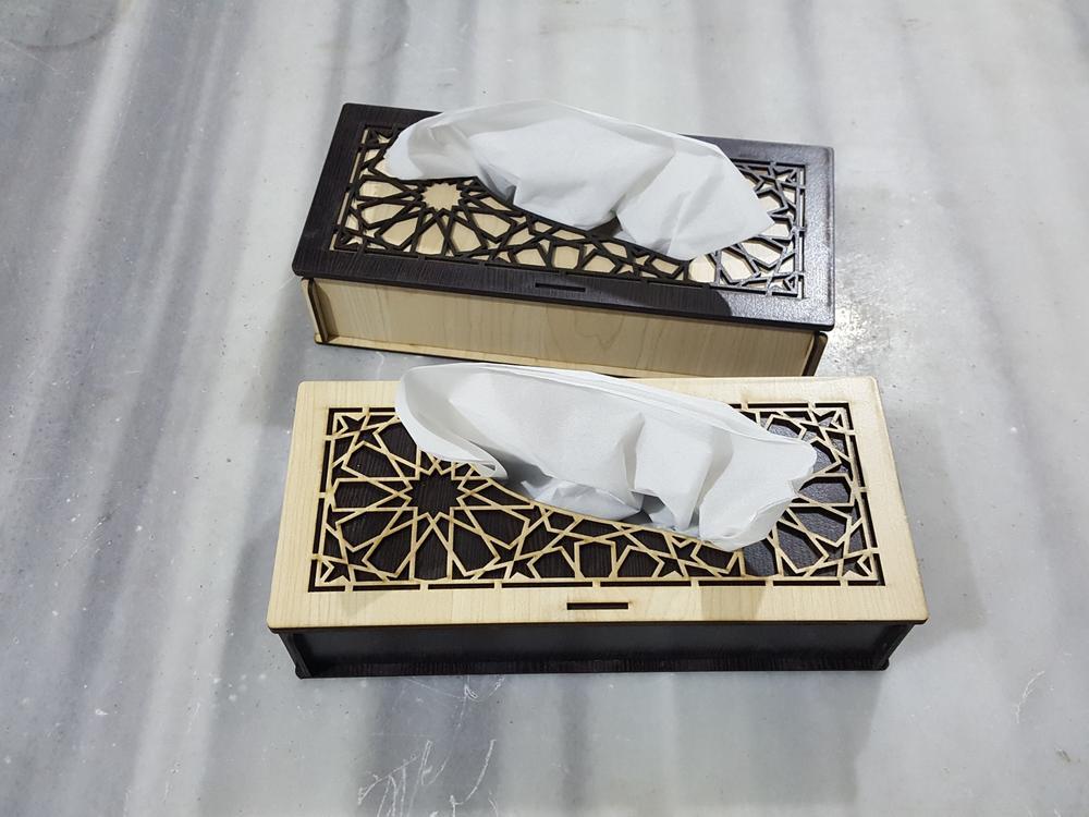 Laser Cut Tissue Box Template PDF File
