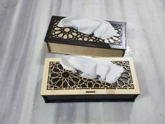 Laser Cut Tissue Box Template PDF File