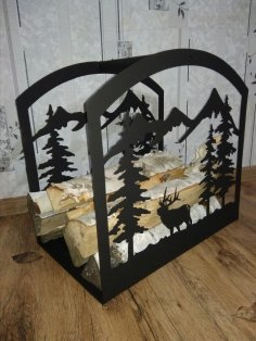 Plasma Cut Firewood Rack DXF File