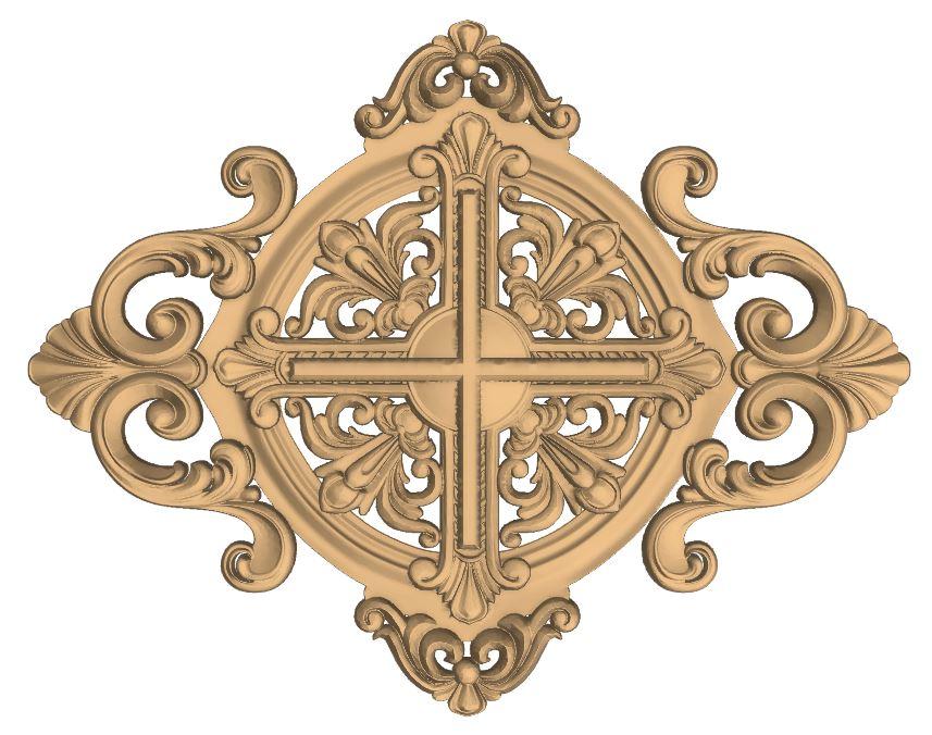 CNC Decorative Wood Carved Ornament Design Stl File