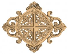 CNC Decorative Wood Carved Ornament Design Stl File