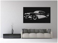 Laser Cut Vintage Classic Car Wall Art Free Vector