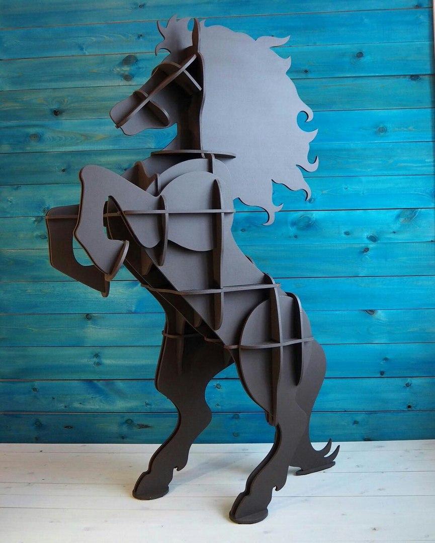 Laser Cut Horse Shelf 10mm Free Vector