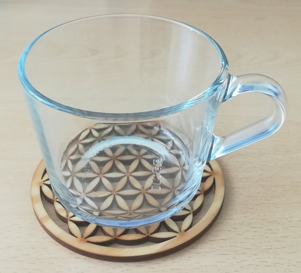 Laser Cut Flower Of Life Coaster Hot Pot Pad DXF File