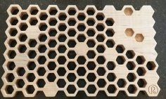 Laser Cut Hot Pot Stand Dish Stand Trivet Honeycomb DXF File