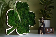 Laser Cut Clover Wood Shape Craft Home Decor Free Vector