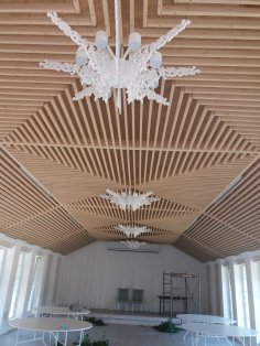 Laser Cut Wood Chandelier Free Vector