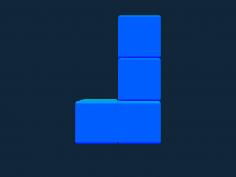 Tetris block J stl file