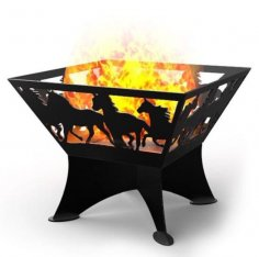 Portable Fire Pit Laser Cut CNC Plasma Template DXF File