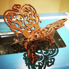 حامل المصحف Quran Holder Laser Cut CNC Router Plans Free Vector