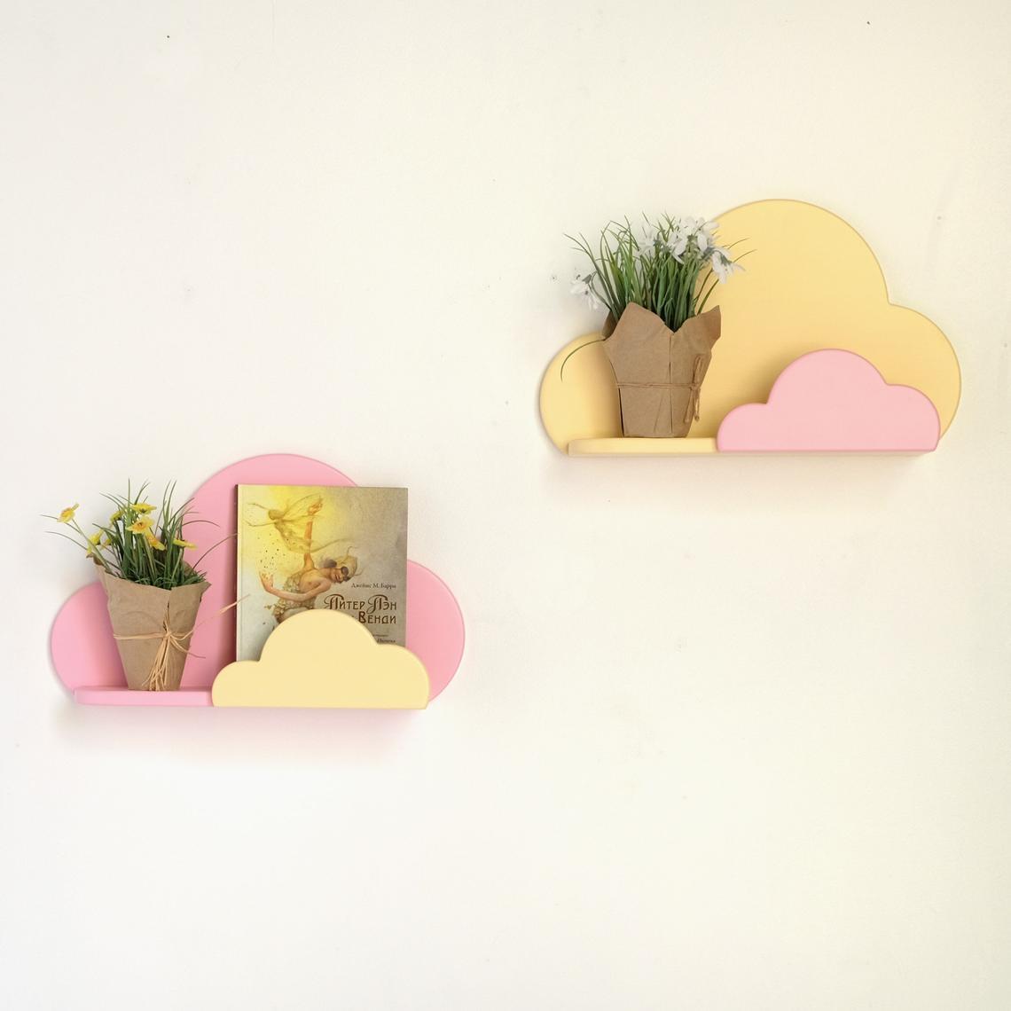 Laser Cut Cloud Shelf For Kids Room Free Vector