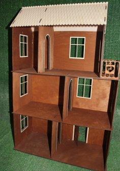 Laser Cut Miniature Dollhouse 3mm Free Vector
