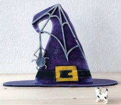 Laser Cut Halloween Witch Hat 4mm DXF File