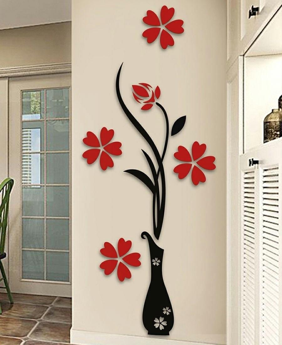 Laser Cut Flower Wall Art Free Vector