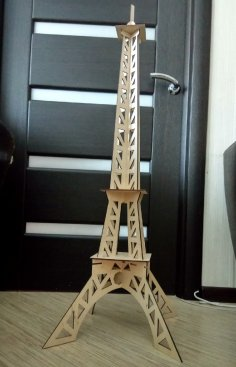Laser Cut Wooden Eiffel Tower Free Vector