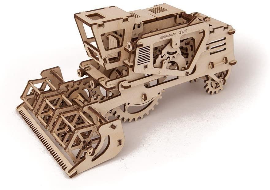 Laser Cut Wooden Combine Harvester Toy Free Vector