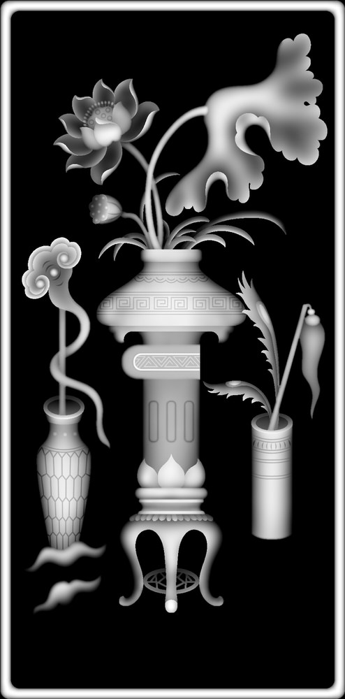 Vase Grayscale Image BMP File