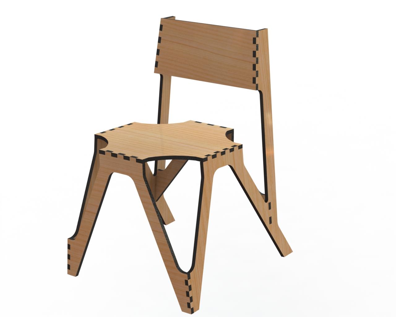 Laser Cut Decor Chair Free Vector