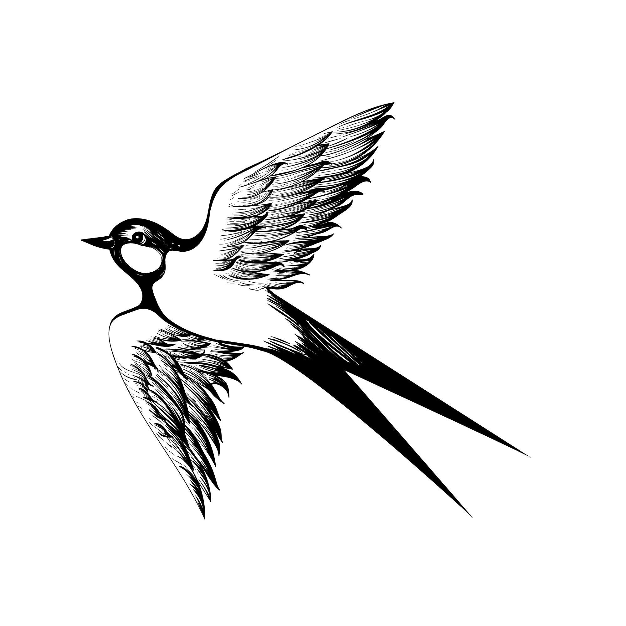 Flying Bird Free Vector