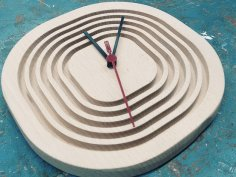 Step Clock CNC Router Plans PDF File